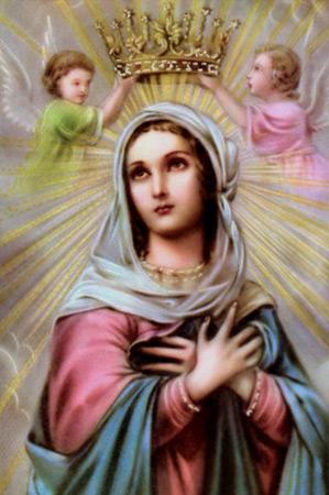 História de Nossa Senhora Rainha - Santos e Ícones Católicos - Cruz Terra Santa