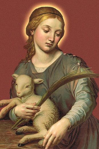 História De Santa Inês Santos E ícones Católicos Cruz Terra Santa