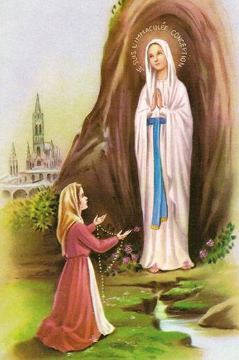 Nossa Senhora de Lourdes - Santos e Ícones Católicos - Cruz Terra Santa 288b0fc2bc