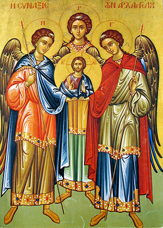 Arcanjos São Miguel São Gabriel E São Rafael Santos E ícones