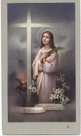 Significado e Simbolismo de Santa Eliana - Santos e Ícones Católicos - Cruz  Terra Santa 655c618bd5