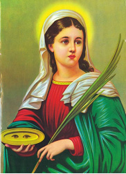 Significado e Simbolismo de Santa Luzia - Santos e Ícones Católicos - Cruz  Terra Santa 2e43701f08