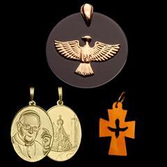 b92f043311664 Kit Espírito Santo   Pingente do Espírito Santo Ônix em Ouro + 2 lindos  presentes. CÓD  KESOX