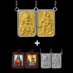 977b826655d24 Escapulário em Ouro 18K Sobre Prata de Lei + 2 lindos presentes. CÓD   ESMTCOP