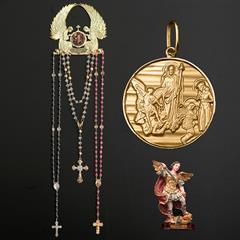 16b8bdc16bf40 Kit Medalha São Bento em prata de lei chapeado a ouro + 5 lindos ...