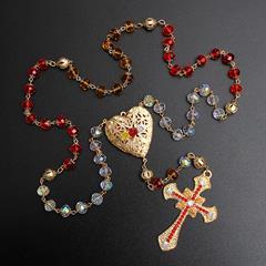 Terço Nossa Senhora da Rosa Mística em cristais folheado a ouro 18k 155ec68dd9