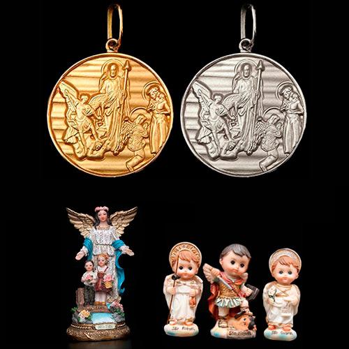 45232aac0c86a KIT Medalhão dos Arcanjos chapeado a ouro + 3 lindos presentes ...