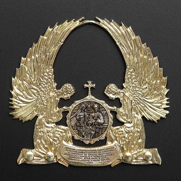 ad252e47ff117 Terçário da Sagrada Família folheado a ouro 18k - Artigos Religiosos  Católicos - Cruz Terra Santa