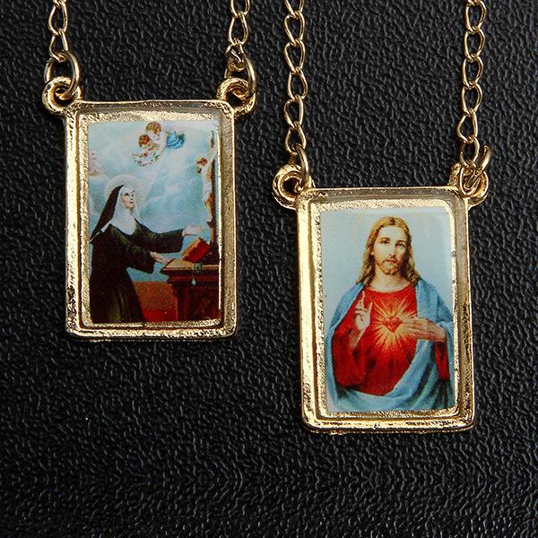 Escapulário Santa Rita folheado a ouro 18k - Artigos Religiosos ... bb0e1ac3a1