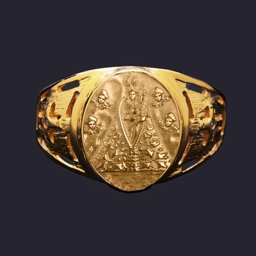 d465a46449144 Anel Nossa Senhora de Nazaré em ouro 18K - Artigos Religiosos ...