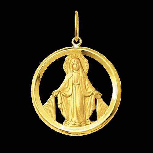 86997bd242acb Medalha Nossa Senhora das Graças em ouro 18K - Artigos Religiosos ...