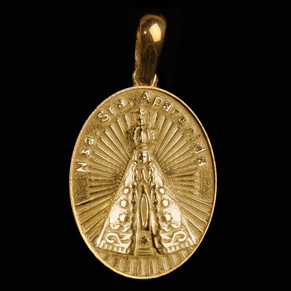 Santos e Ícones Católicos voltar. Você está em  Santos e Ícones Católicos .  Medalhas de Santos . Medalha Nossa Sra. Aparecida em ouro 18K 11ad8e9180