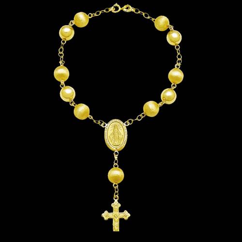 e2afd7e0ded90 Dezena Nossa Senhora das Graças em ouro 18K - Artigos Religiosos ...