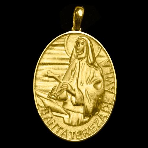b86312ea83689 Medalha Santa Teresa de Ávila em ouro 18K - Artigos Religiosos ...